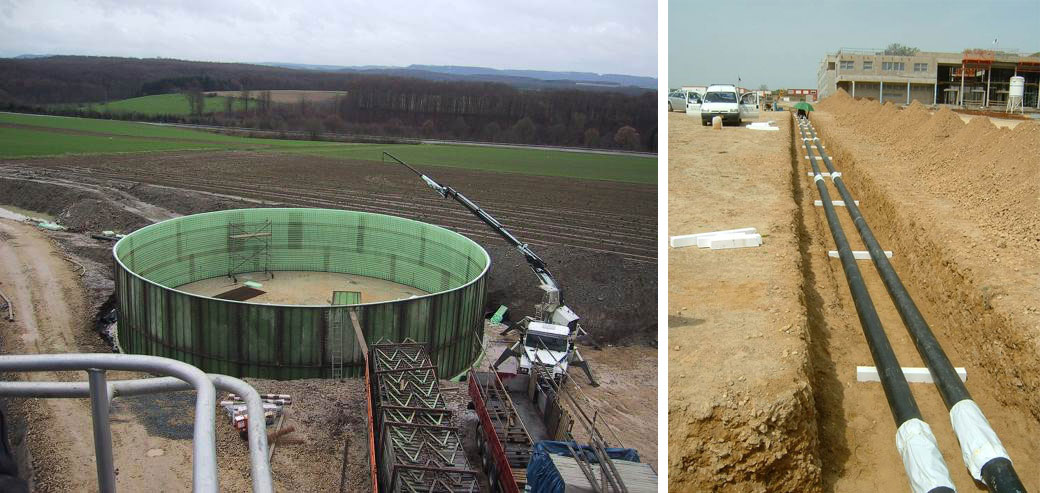 Ref: Project Redange - Construction phase - Biogas plant with district heating